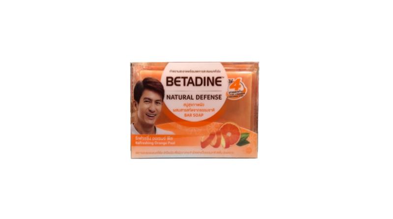 Betadine Natural Defense Refreshing Orange Peel Bar Soap