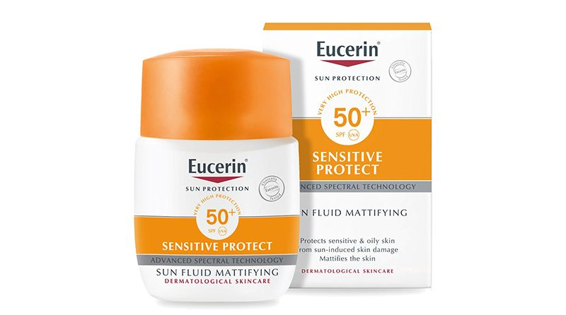 ครีมกันแดด Eucerin SUN PROTECTION SENSITIVE PROTECT Fluid Matifying SPF 50+