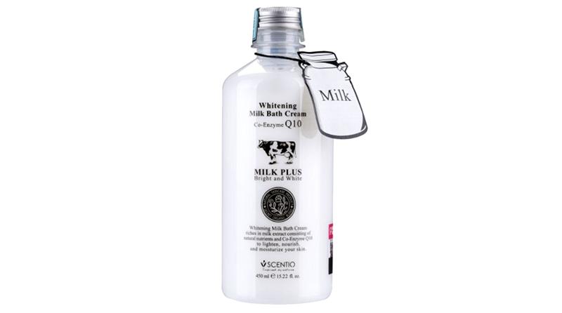 สบู่ Scentio Milk Plus Bright & White Shower Cream