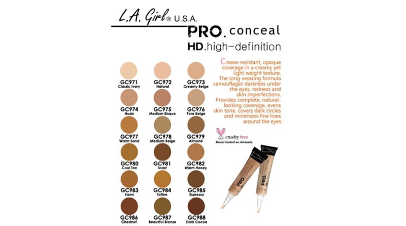คอนซีลเลอร์ L.A. GIRL HD PRO Conceal High-definition Concealer