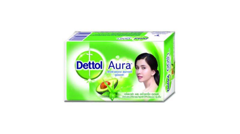 สบู่ Dettol Aura Aloe Vera & Avocado