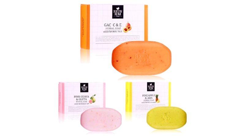 สบู่ ReunRom Pink Guava And Gluta Herbal Bar Soap