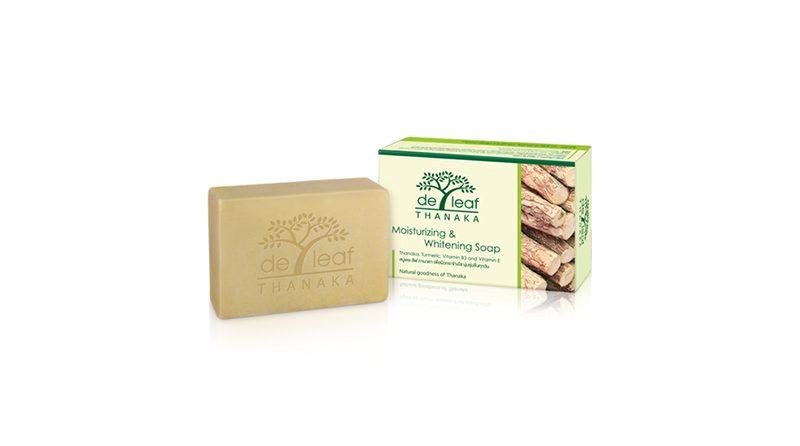 สบู่ De Leaf Thanaka Moisturizing & Whitening Soap