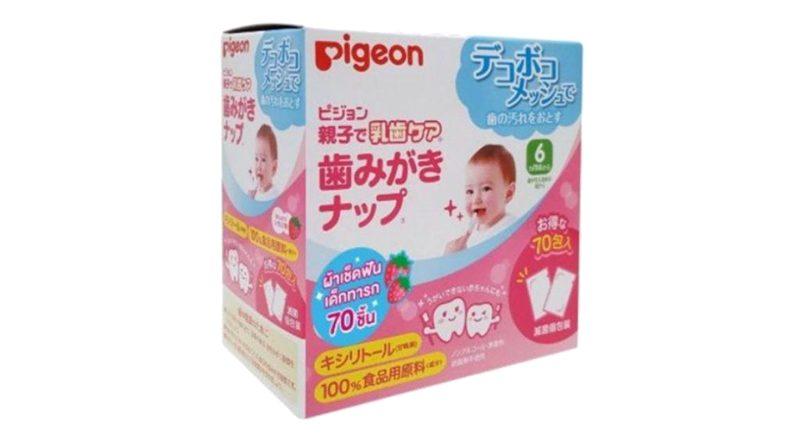 ยาสีฟันเด็ก Pigeon ผ้าเช็ดฟัน