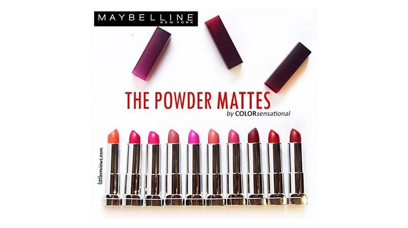 ลิปสติก MAYBELLINE NEW YORK The Powder Mattes By Color Sensational