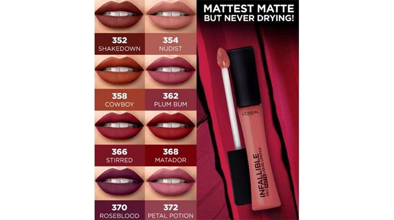 ลิปสติก L'OREAL PARIS Infallible Pro-Matte Liquid Lipstick