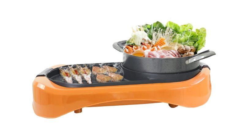 SONAR หม้อสุกี้ ชาบู ขนาด JUMBO รุ่น SF-M42 สีส้ม Sukiyaki Pot