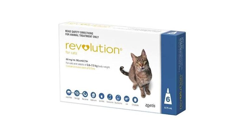 Revolution ยาหยดกำจัดเห็บหมัดแมว