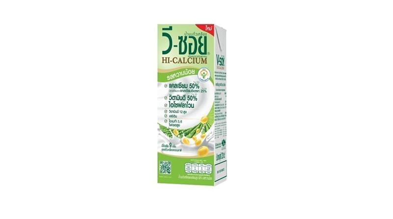 V-Soy นมถั่วเหลือง สูตร Hi-Calcium รสหวานน้อย