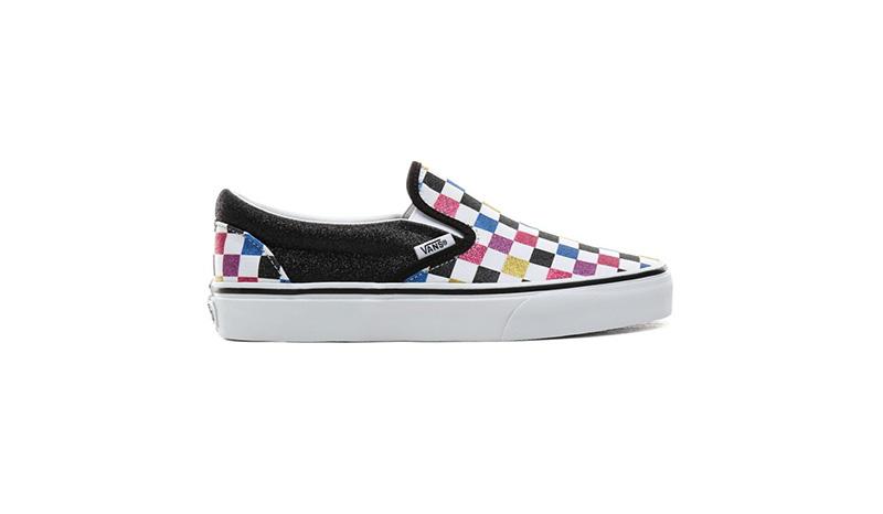 รองเท้าผ้าใบผู้หญิง Vans Slip-On (Glitter Checkerboard)