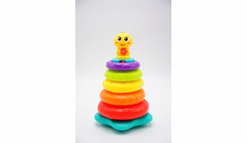 Huile toys ห่วงเรียงซ้อนกิจกรรมเสริมพัฒนาการเป็ดน้อย