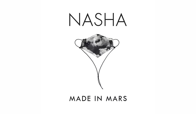 หน้ากากผ้า NASHA MADE IN MARS หน้ากากผ้า ลายเมฆดำ