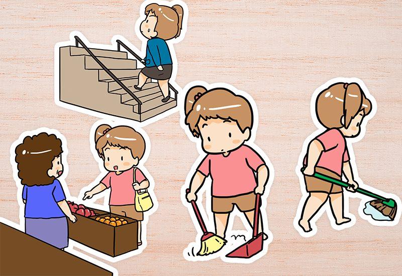 ออกกำลังกายง่าย ๆ ในชีวิตประจำวัน