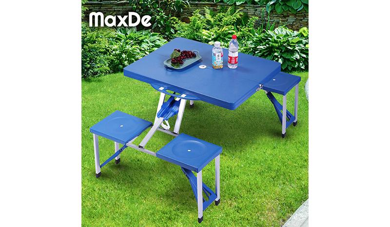 โต๊ะในสวน MaxDe ชุดโต๊ะสนามแบบพับเก็บ
