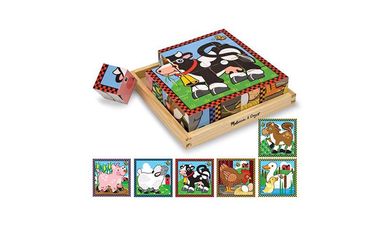 จิ๊กซอว์ไม้ Farm Cube Puzzle (Melissa & Doug)