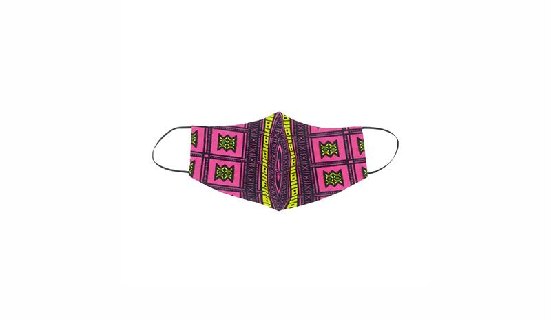 หน้ากากผ้า SAAMU หน้ากากผ้าคอตตอน + ฟิลเตอร์กันฝุ่น PM2.5 ลาย Stool สีชมพู