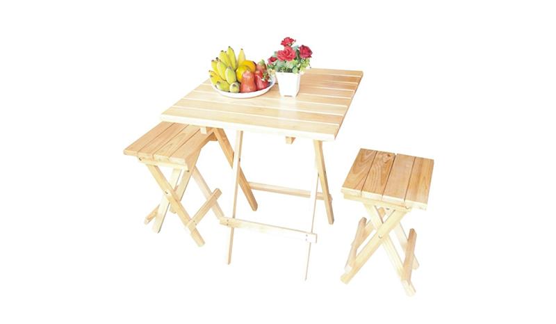 โต๊ะในสวน Piyalak Shop โต๊ะเก้าอี้ไม้ยางพารา