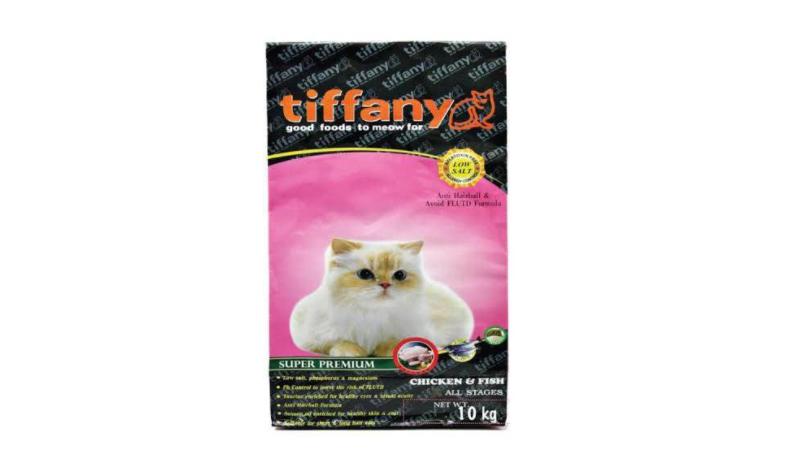 Tiffany อาหารแมว สูตรเนื้อไก่ ปลา และข้าว