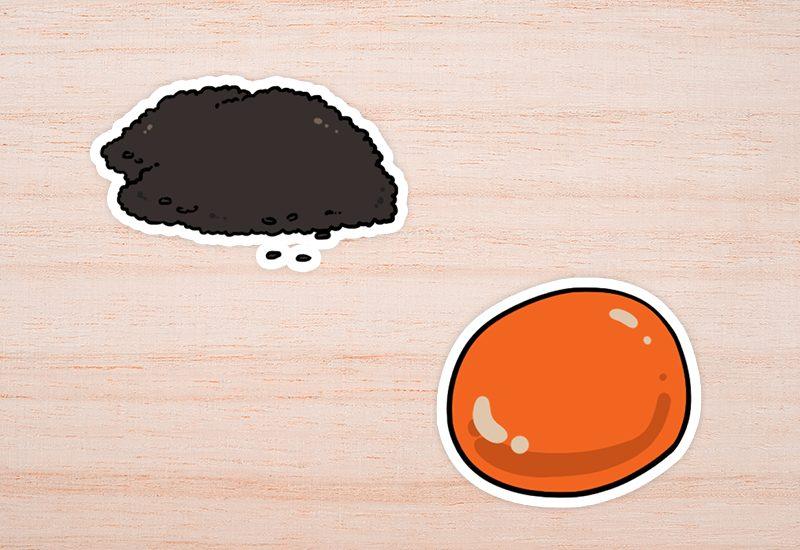ไข่แดงและงา
