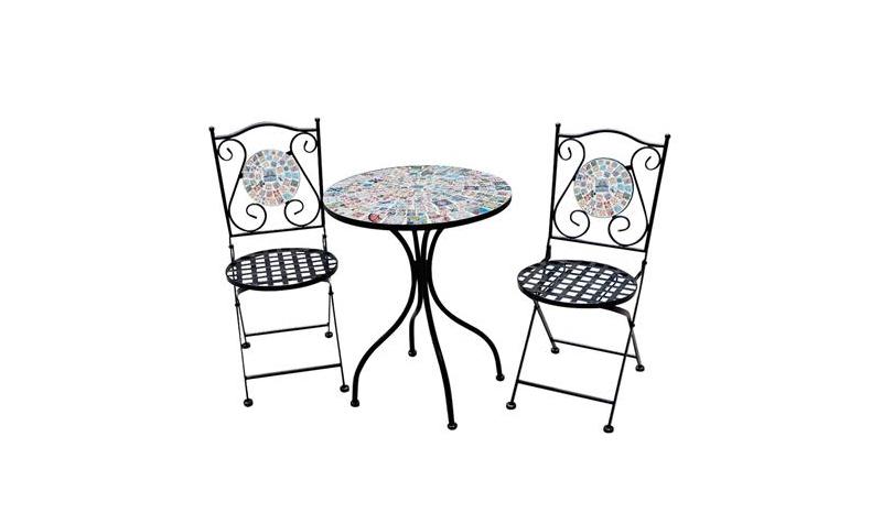 โต๊ะในสวน HomePro ชุดโต๊ะโมเสก MOROCCAN