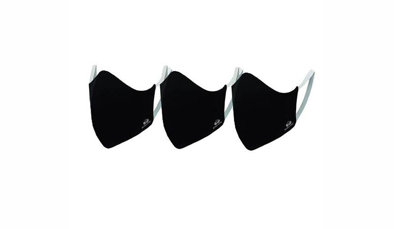 หน้ากากผ้า DOUBLE GOOSE หน้ากากผ้าสีดำ สะท้อนละอองน้ำ