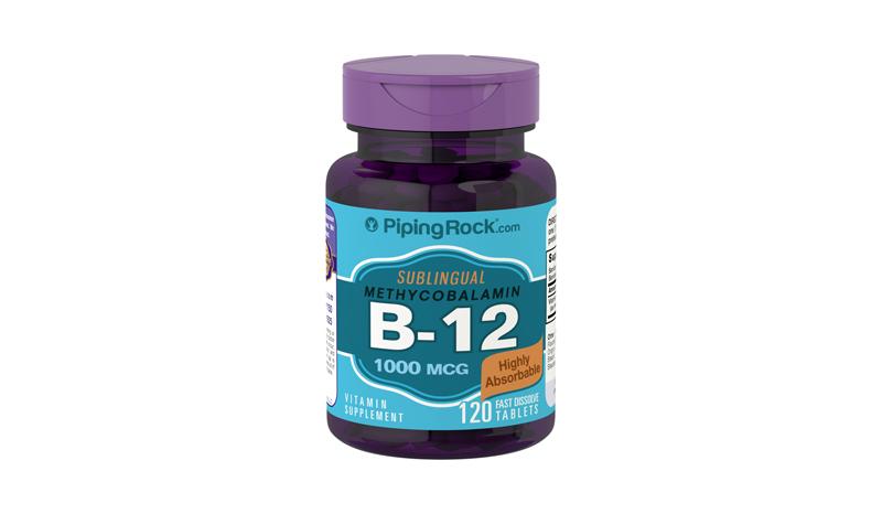 Sublingual Vitamin B-12 -120 Tablets (Piping Rock®)