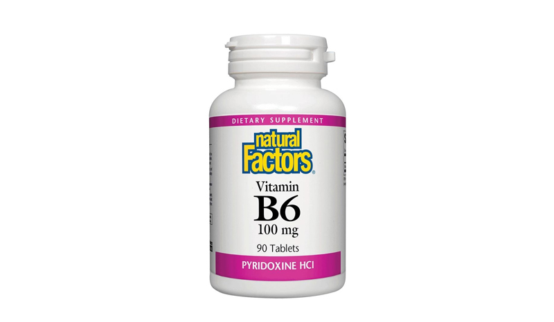 Natural Factors Vitamin B6 Pyridoxine HCl 100 mg 90