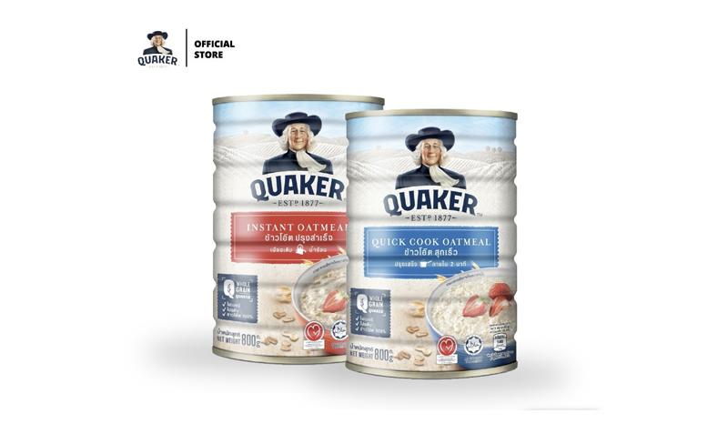 ข้าวโอ๊ต Quaker ข้าวโอ๊ตสุกเร็ว สูตรสุกเร็ว