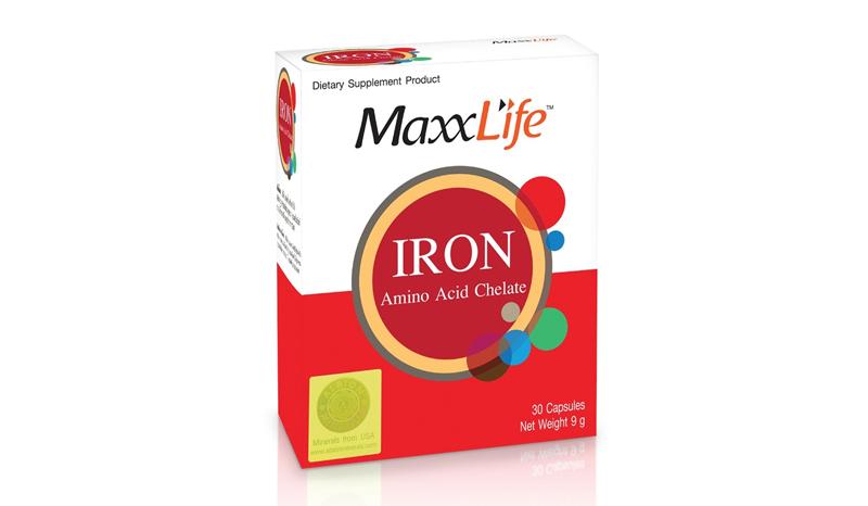อาหารเสริมธาตุเหล็ก Maxxlife Iron Amino Acid Chelate
