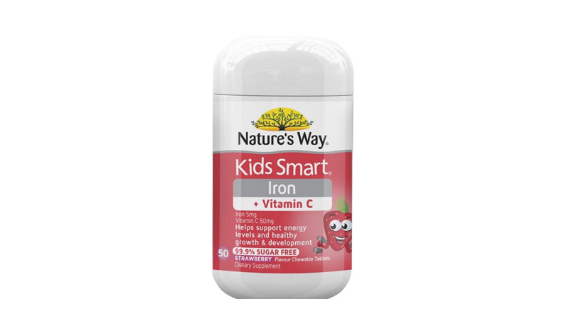 อาหารเสริมธาตุเหล็ก Nature's Way Kids Smart Iron + C Chewable