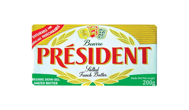 เนยสดรสเค็ม President Salted French Butter