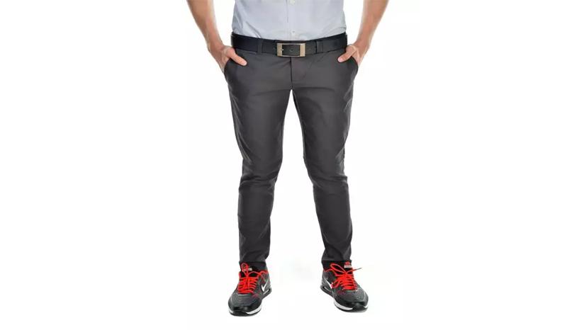 BOYD กางเกงสแล็คขาเดฟสีดำ