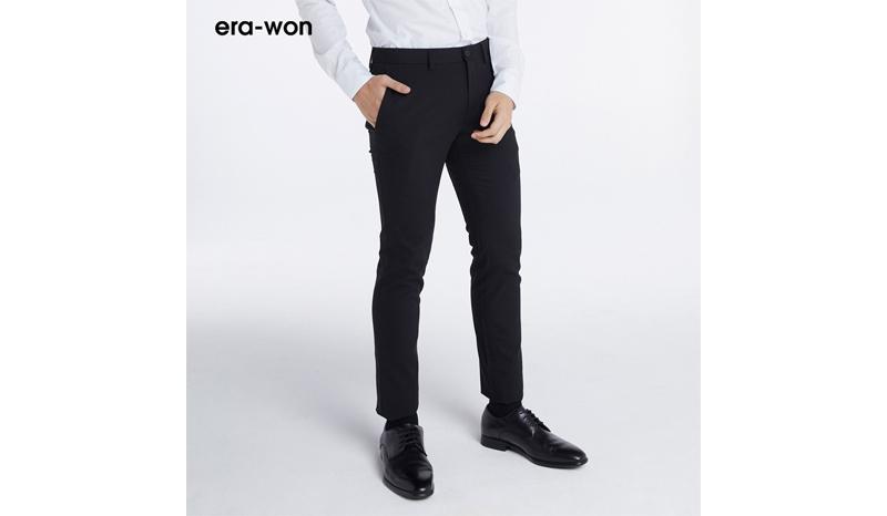 era-won กางเกงสแล็คขายาว ทรงเดฟ