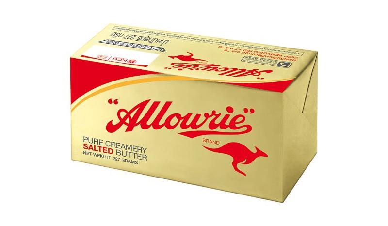 เนยสดรสเค็ม Allowrie Pure Creamery Salted Butter