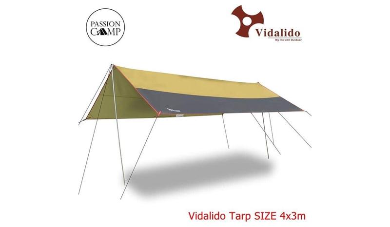 Vidalido ฟลายชีท ทรงสี่เหลี่ยมผืนผ้า Size S