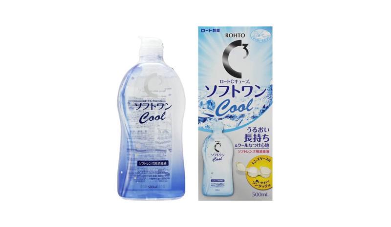 น้ำยาล้างคอนแทคเลนส์ Rohto C3 Contact Lens Wash Soft One Moist
