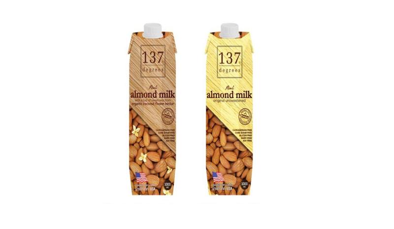 137 Degrees Almond Milk Original Unsweetened (รสดั้งเดิมไม่หวาน)