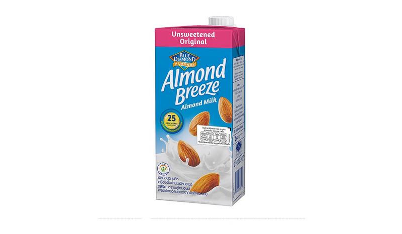 Blue Diamond Almond breeze นมอัลมอนด์รส Unsweetened (สูตรไม่เติมน้ำตาล)