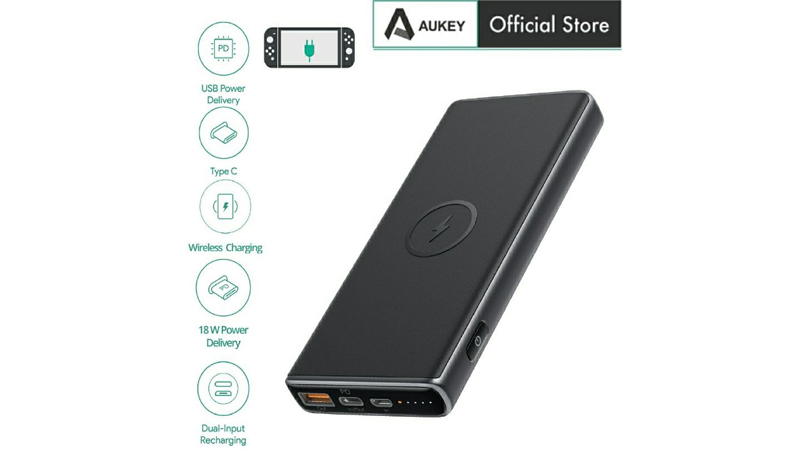 AUKEY 10000 mAh Power bank with Wireless Charging (PB-Y32)