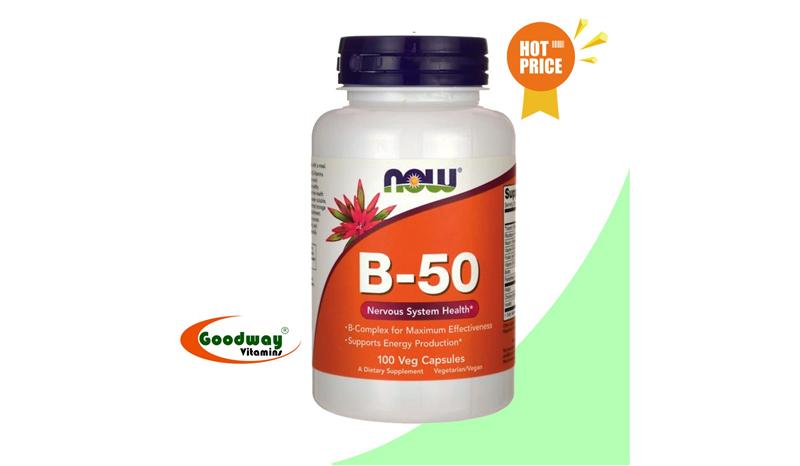 Now Foods B-50 วิตามินบี 100 Veg Capsules