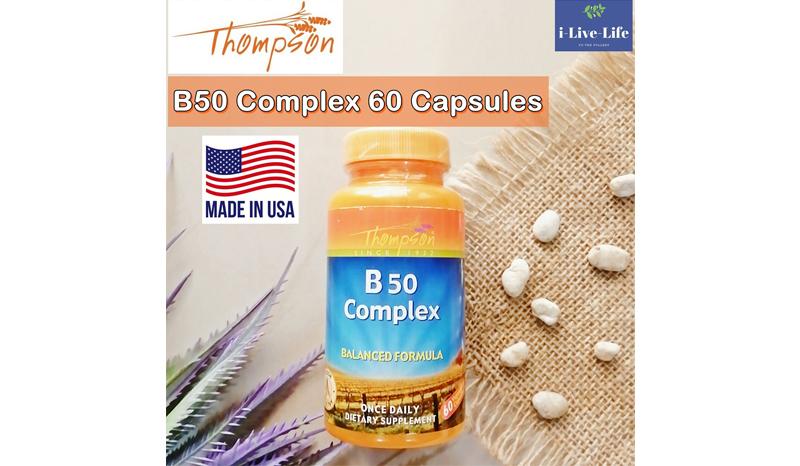 Thompson, B50 Complex, 60 Vegetarian Capsules