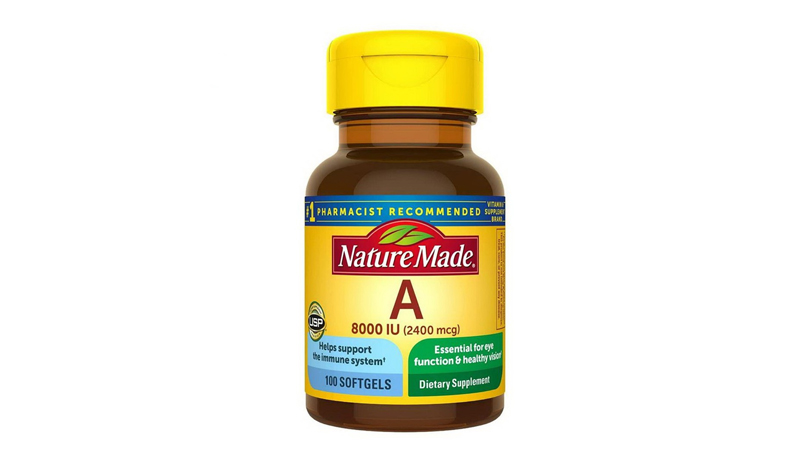 Nature Made Vitamin A 8000 IU 100 Softgels