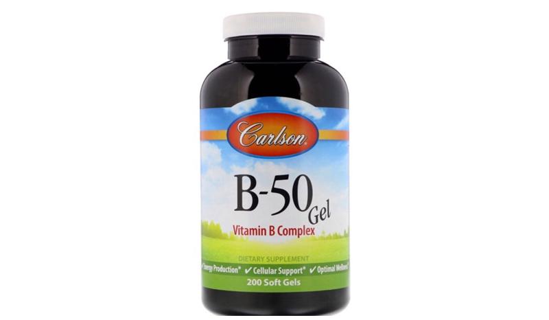 Carlson labs B•50 Gel, Vitamin B Complex, 200 Soft Gels