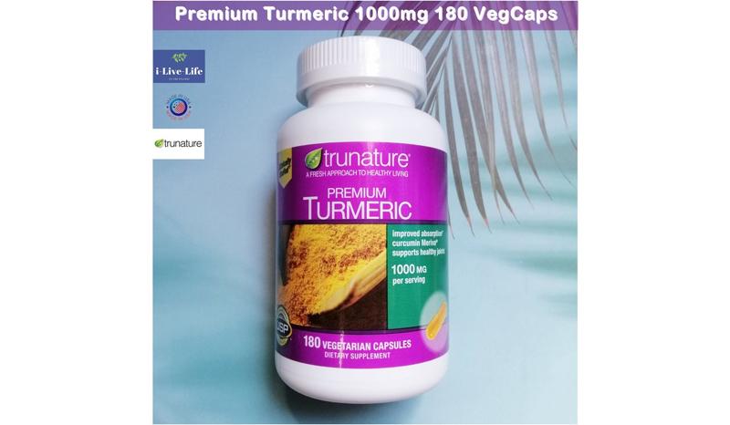 ขมิ้นชันสกัด Trunature Premium Turmeric1000 mg.180Vegetarian Capsules