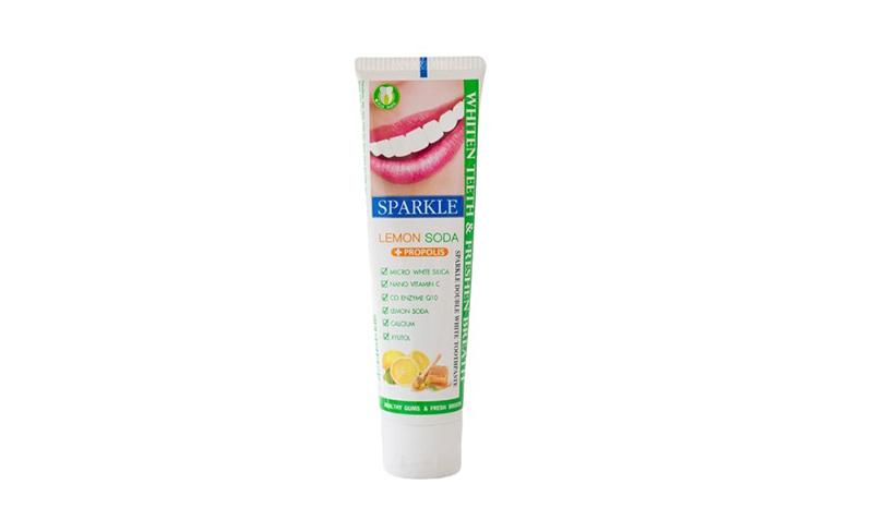 ยาสีฟัน Sparkle Double White Lemon Soda+ Propolis