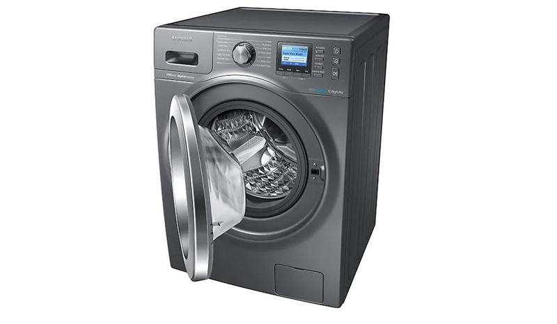 Samsung เครื่องซักผ้า/อบผ้าฝาหน้า(12/8 kg)รุ่น WD12F9C9U4X