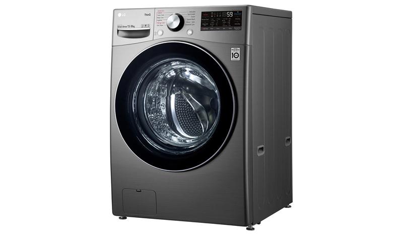 LG เครื่องซักผ้า/อบผ้า ฝาหน้า (15/8kg) รุ่น F2515RTGV.AESPETH