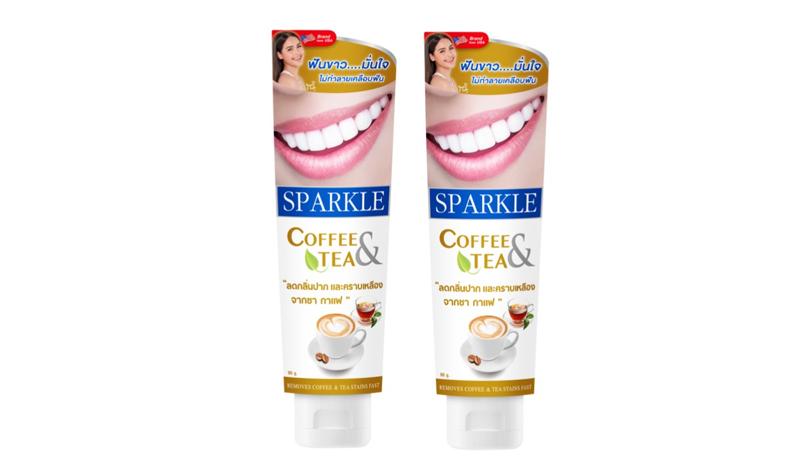 Sparkle  ยาสีฟัน ขจัดคราบชา กาแฟ 90 กรัม  สูตร COFFEE & TEA