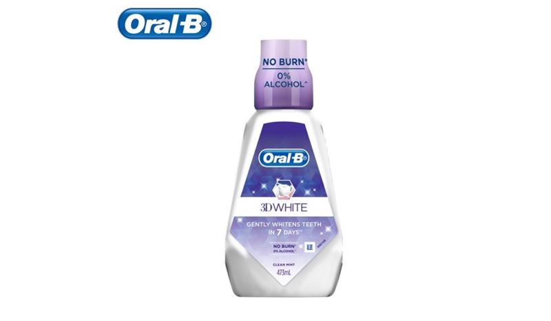 Oral- B Mouthwash3D Brilliance White Whittening Rinse