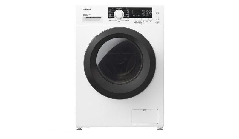 HITACHI เครื่องซักผ้า/อบผ้า ฝาหน้า (8/6 กก.) รุ่น BD-D80CVE